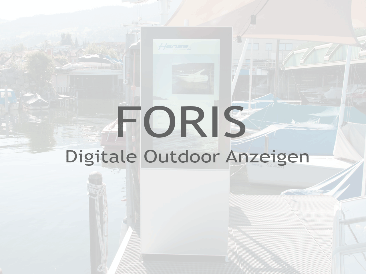 FORIS Digitale Outdoor Anzeigen - Inputech DESIGN
