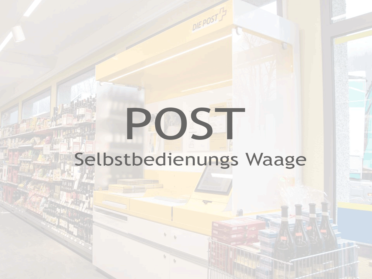 Post Selbstbedienungs Waage - Inputech DESIGN